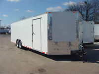New 8.5x24 Enclosed Cargo Trailer V-Nose Upgraded 5200lb Axles