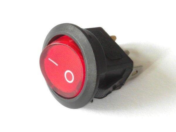 Wippschalter Einaus Schalter Cqc Kcd1 250v 6a 125v 10a Ac Rot Beleuchtet