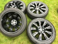 """21"""" 22"""" Range Rover Sport vogue discovery Alloy Wheels Tyres"""