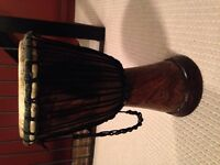 Djembe medium with carrier $60