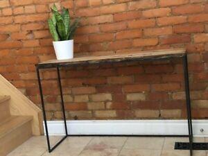Rustic wood console table - $175