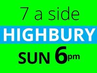 Friendly 7 a side football game in Highbury needs players
