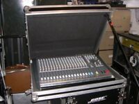 This is a well kept Allen and Heath 20 input stereo Live Mixer with a Swan Flight flightcase.