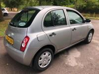 Nissan Micra 5 Door silver car +3 Months warranty ++ 12 Months mot