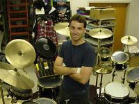 Leçons Cours Batterie / Drums - 20 ans de métier