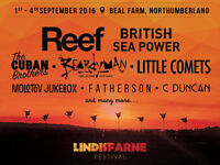 Lindisfarne Festival Weekend Tickets x2