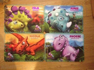 Dinosaurus Personalised  3d Place Mats various names PLACEMATS any 5 for 1 price