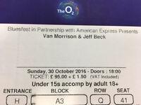 Bluesfest van Morrison and Jeff beck have 5 tickets price per ticket