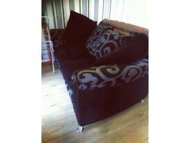 Black and grey sofa / settee