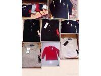 Ralph Lauren men's polo t shirt big pony long sleeves 5x colours £15 each cotton
