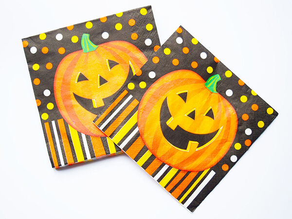 Halloween Pumpkin Napkins Party Decorations