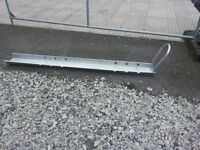 MOTORBIKE LOADING RAMPS AND BIKE RUNNER CHANNELS WITH FRONT HOOP GALVANISED