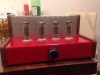 Custom built valve amplifier