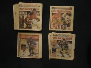 The Hockey News Newspapers 1999-2002 41 total issues