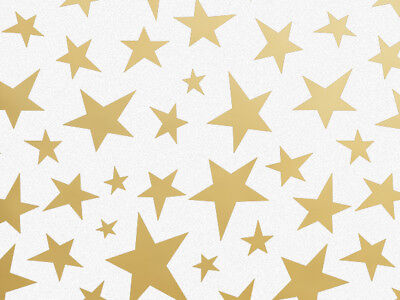 Gold Stars Tissue Paper - Gold Patriotic Stars on White Tissue Paper for Gift Wrapping 20