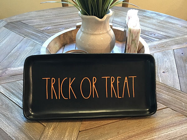 Rae Dunn Trick or Treat Plater