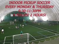 Indoor Soccer Toronto Tonight! 4 Fields!