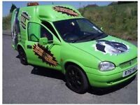 Vauxhall corsa 1.7 diesel Hulk valeting van may s w a p px