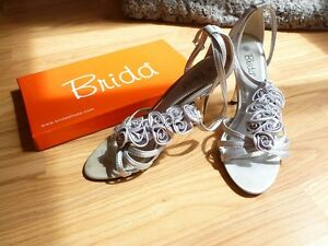 Gorgeous Size 6 Brida Silver High Heels!! Worn Once!