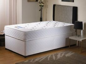 FREE & FAST DELIVERY *** SINGLE DIVAN BED WITH FULL ORTHOPEDIC MATTRESS ONLY £79 ***