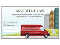 Man With Van, Northampton based