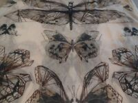 Large scarf with butterfly design