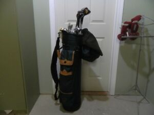 Datrek Bag & Wilson Clubs with Strap & Cover