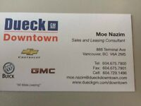 Moe Nazim Sales and Leasing Consultant at Dueck GM