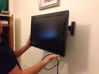 23 inch flat screen tv with wall mounted bracket