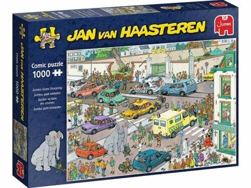 Jumbo Jan Van Haasteren 1000 Piece Jigsaw Puzzle - Jumbo Goes Shopping