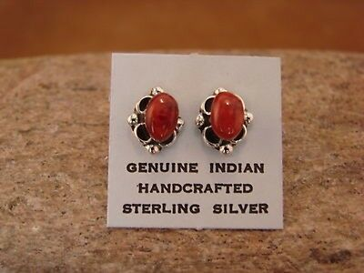 Native American Jewelry Sterling Silver Spiny Oyster Post Earrings!