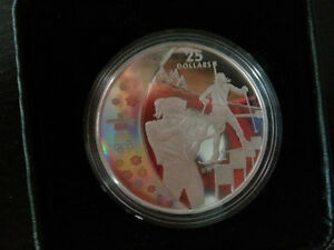 RCM 2007 $25 Sterling Silver Coin - Olympic Games: Biathlon
