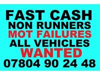 Ø78Ø4 9Ø2448 CARS VANS BIKE WANTED ALSO SCRAP NON RUNNERS DAMAGED CASH TODAY BUY MY SELL YOUR FAST b