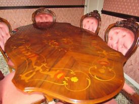 Table mahogany with 6 chairs