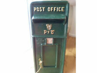 VERY RARE OLD STYLE CAST IRON P&T POST BOX
