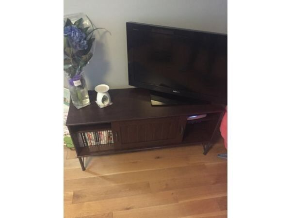 Ikea dark wood tv unit in aberdeen gumtree for Wooden tv stands ikea