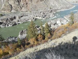 Placer gold claim on Fraser river North of Lillooet (Fountain)