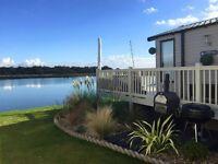 Beautiful lake view caravan to rent