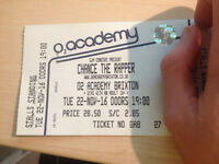 CHANCE THE RAPPER STANDING TICKET 22ND NOVEMBER O2 ACADEMY BRIXTON