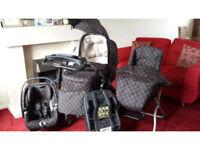 Mamas and Papas Ultima 9 in 1 in Balmain - Pram Cot High Chair Car Seat Isofix