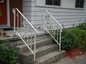 Reduced wrought Iron railing for steps