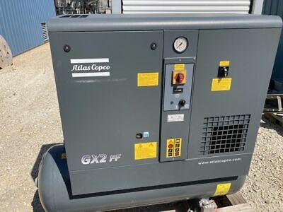 Atlas Copco Gx2 3-hp 53-gallon Rotary Screw Air Compressor W Dryer