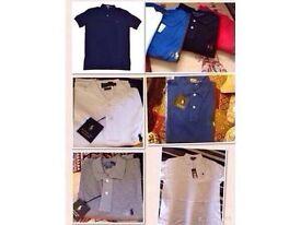 Ralph Lauren men's polo t shirt short sleeves small pony £15 each cotton
