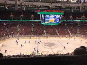 Vancouver Canucks Tickets Sale ~ 4 in a Row ~ Aisle ~ Center Ice