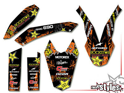 KTM 690 SMC SMC/R ENDURO (08-17) | ROCKSTAR DEKOR DECALS KIT STICKER graphics