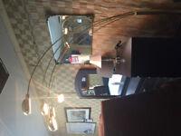 LIKE NEW LARGE BRASS UMBRELLA LAMP