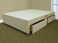 🟡💛BEST FURNITURE SHOP💛🟡DOUBLE/KING SIZE DIVAN BED BASE WITH OPTIONAL MATTRESS & HEADBOARD