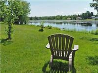 Large LAKE FRONT property, surrounded by nature, inground pool!