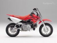 Looking for a 50 or a 70cc dirt bike