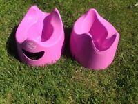 "2 x pink ""Pourty"" pottys"